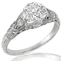 GIA 1.22ct Diamond Platinum Engagement Ring