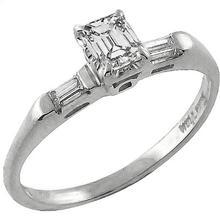 14k white gold diamond engagement ring and wedding band set 1