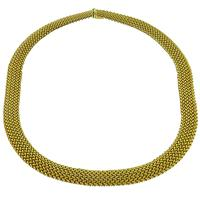 Estate 14k Yellow Gold Mesh Weave Necklace