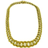2 Tone Gold Double Chain Link Necklace