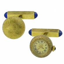 lucien piccard 14k yellow gold watch cufflinks 1