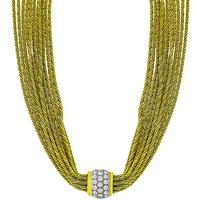 Tiffany 3.00ct Diamond Gold Strand Necklace