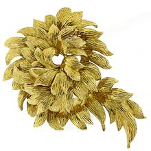 Tiffany & Co.  Gold Foliage Pin