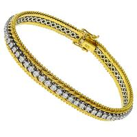 2.70ct Diamond Tennis 2 Tone Gold Bracelet