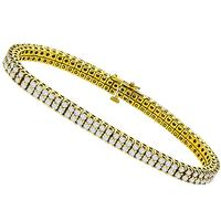 6.00ct Diamond Tennis Gold Bracelet
