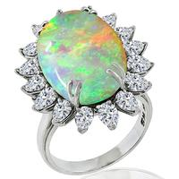Opal 2.40ct Diamond Gold Ring