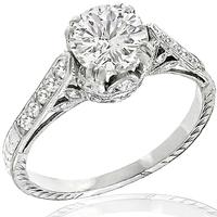 Edwardian 1.17ct Diamond Engagement Ring
