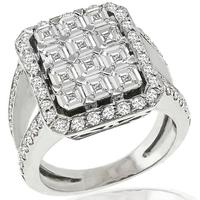 1.80ct And 1.50ct Diamond Gold Ring