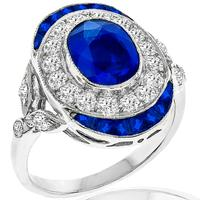 1.96ct Sapphire 0.83ct Diamond Gold Ring