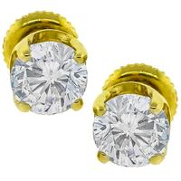 1.99ct Diamond Gold Stud Earrings