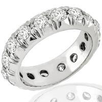 2.00ct Diamond Eternity Gold Wedding Band