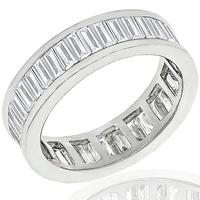 3.41ct Diamond Eternity Gold Wedding Band