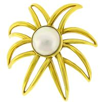 Tiffany Gold Pearl Fireworks Pin
