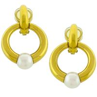 Cartier Pearl Gold Knockler Earrings