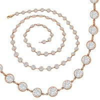 18.80ct Diamond By The Yard Gold Necklace