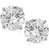 1.00ct Diamond Gold Stud Earrings
