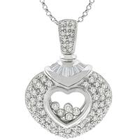 2.5ct Floating Diamond Gold Heart Pendant