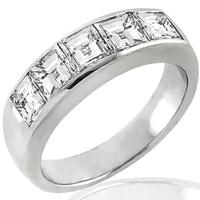 1.64ct Diamond Platinum Band