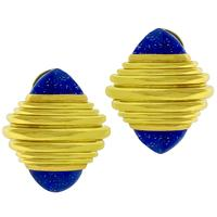 Boucheron Lapis Gold Earrings