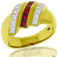 0.25ct Ruby 0.50ct Diamond Gold Ring