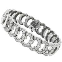 Cartier 2.50ct Diamond Gold Link C Bracelet