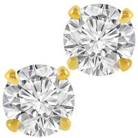 0.80ct Diamond Gold Stud Earrings