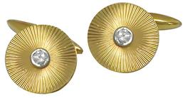 Retro 0.25ct Diamond  14k Yellow Gold  Cufflinks