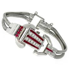 Ruby Diamond Cover Watch Bracelet