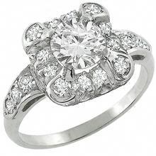 diamond 14k white gold engagement ring wedding band set 1