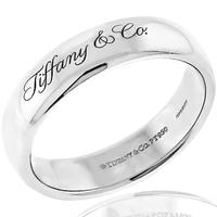 Estate Tiffany & Co 6mm Comfort Fit Platinum Wedding Band