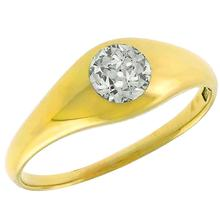 Victorian 0.75ct Old Mine Cut Diamond 14k Yellow Gold  Ring