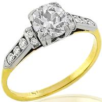 Victorian 1.00ct Diamond Gold Engagement Ring
