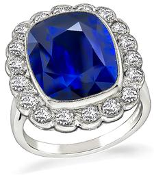 Vintage 10.30ct Sapphire Engagement Ring - price $29,500