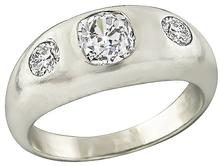 Vintage 1.12ct Diamond Men's Ring