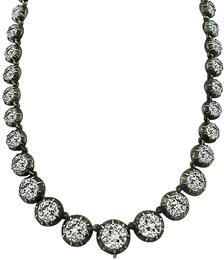 Vintage Victorian 37.32ct Diamond Necklace Photo 1