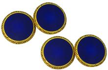 Vintage Enamel Gold Cufflinks photo 1