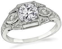 0.64ct diamond art deco engagement ring 1