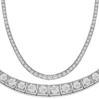8.00ct Diamond Platinum Riviera Necklace