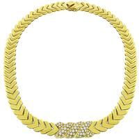3.00ct Diamond Gold Chevron Necklace
