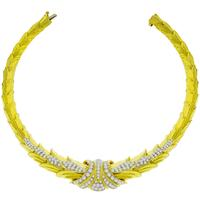 4.50ct Diamond Gold Necklace