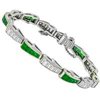 J.E. Caldwell 3.50ct Diamond 3.00ct Emerald Bracelet