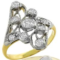 Antique 0.50ct Diamond Gold Ring