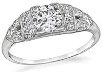 Art Deco 0.53ct Diamond Engagement Ring