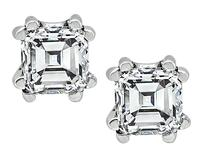 Estate GIA Certified 0.93cttw Diamond Stud Earrings