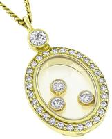 Estate Chopard 0.30ct Diamond Pendant Necklace