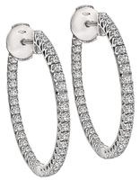 Estate 2.00ct Diamond Inside Out Hoop Earrings