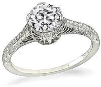 Edwardian 0.64ct Diamond Engagement Ring