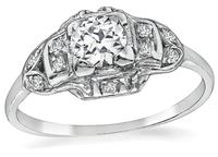 Estate 0.40ct Diamond Engagement Ring and Wedding Band Set