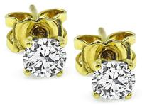 Estate 0.60ct Diamond Stud Earrings