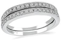 Estate 0.60ct Diamond Wedding Band Set